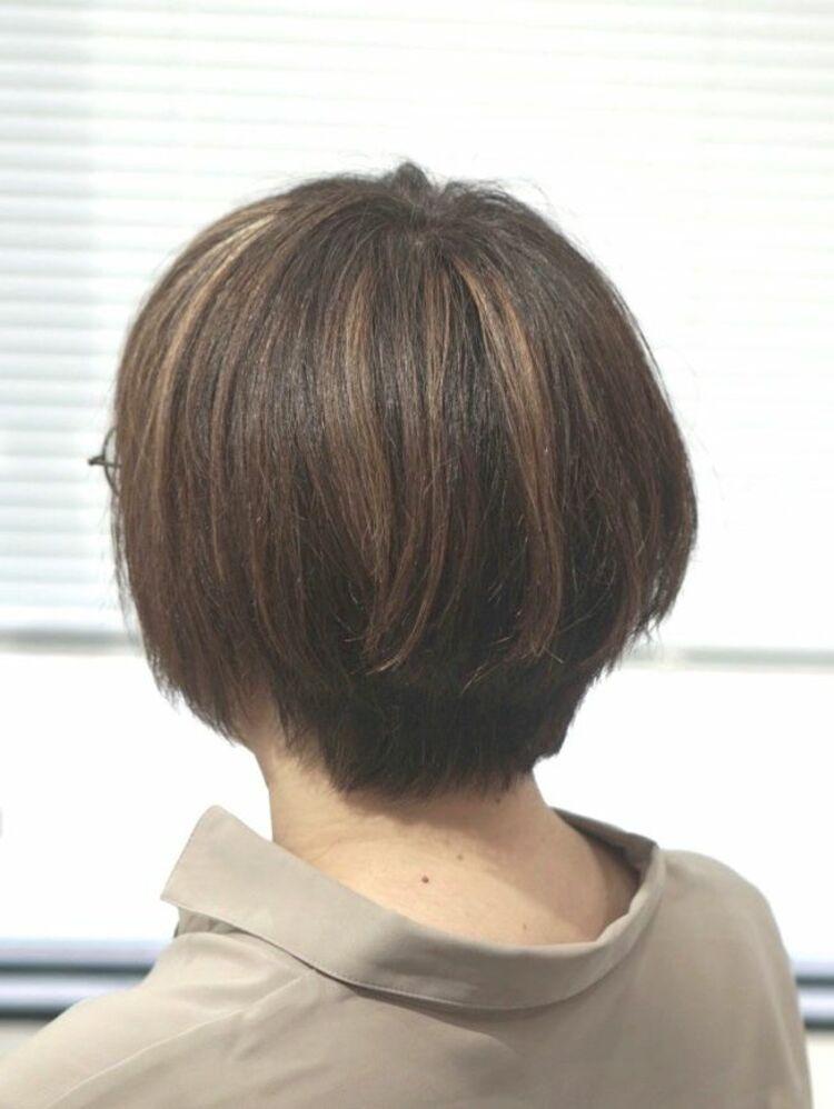 ハイライトショートヘア