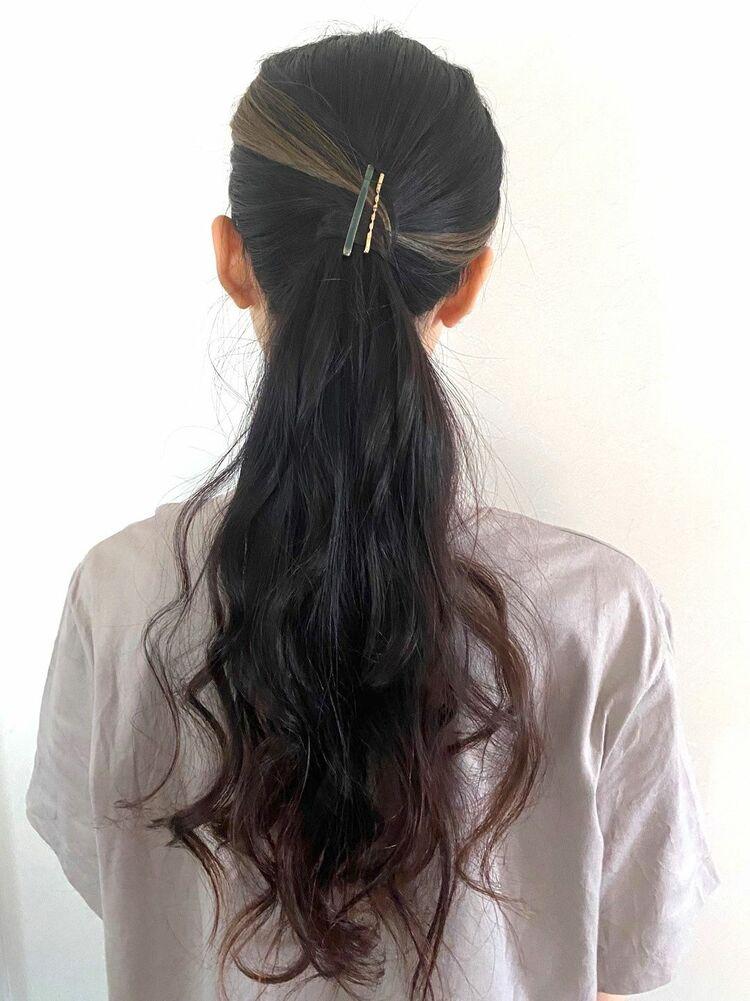 ロングヘアアレンジ