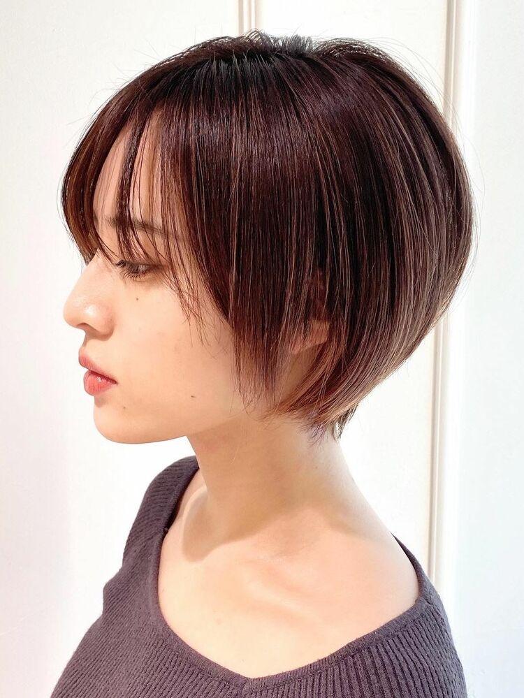 乾かすだけで決まる美人ショートヘア