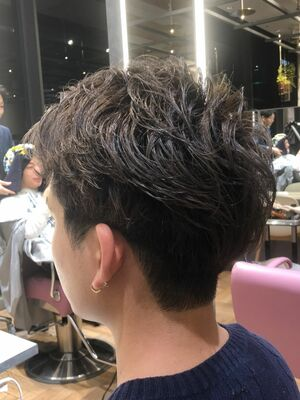 銀座メンズカット 春夏にオススメ ダブルカラー アッシュベージュ LDH風 3代目風 EXILE風
