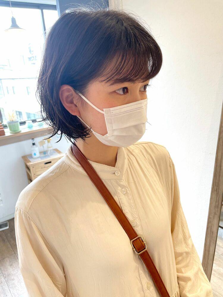 ラフボブパーマ☆前髪パーマ☆耳かけ☆10代20代30代☆人気