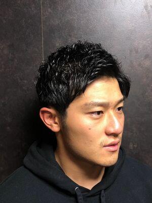 超ナチュラルツーブロックパーマスタイル/神田/ヒロ銀座/理容/美容/20代/30代