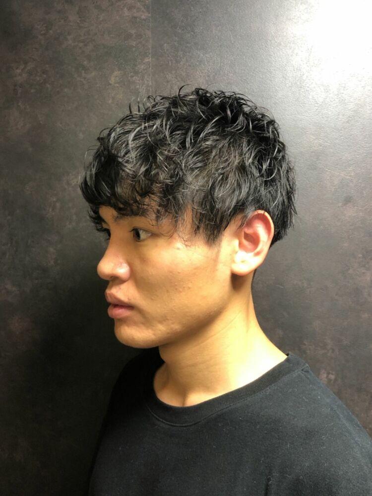 秋冬ツーブロックパーマ/神田/美容室/理容室/20代/30代