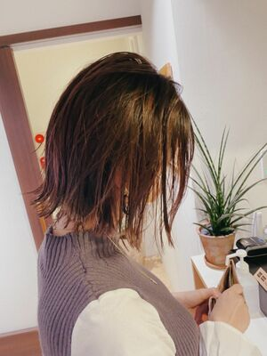 根津のショートが得意な美容師KENTAが作るミニマムボブ