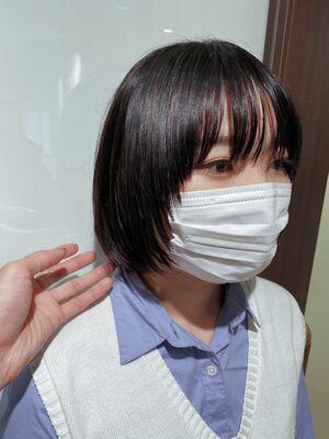 マスクをつけてても可愛い、マッシュボブ