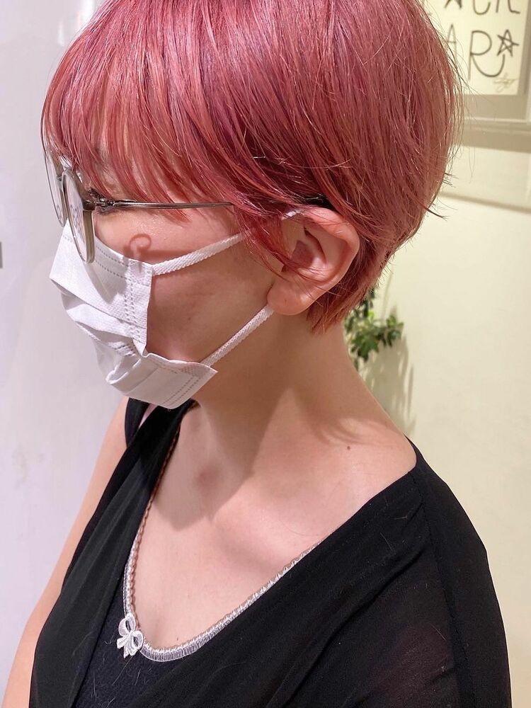 マニッシュショート、秋冬にオススメなピンクカラー ブリーチ有りTOKIOTR27500円