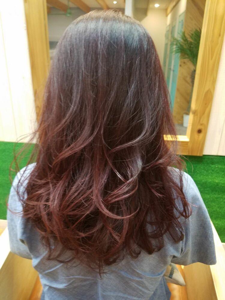 秋髪 チェリーピンク
