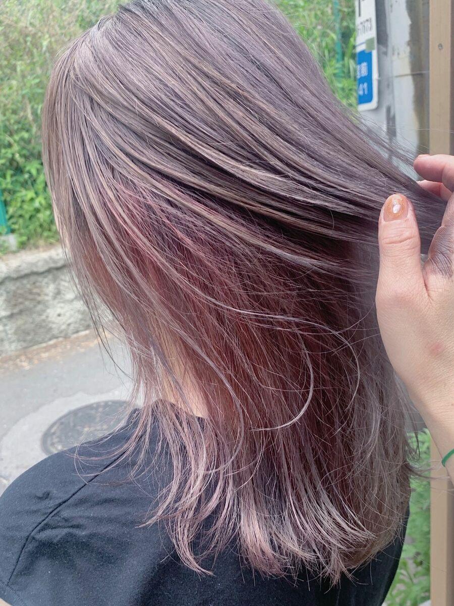 Wカラー インナーカラー pink8500円