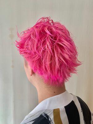 ビビットカラー ピンク ブリーチ2回