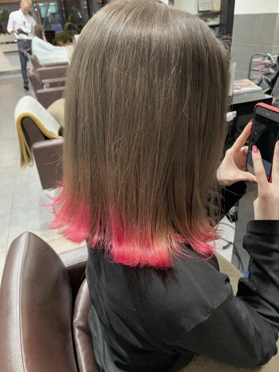 グラデーションカラー ピンク系
