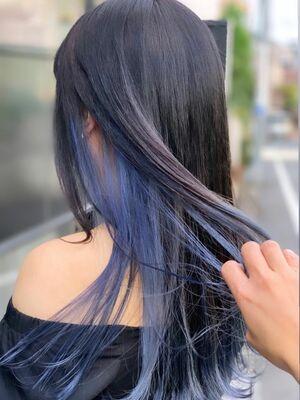 インナーカラー blue 似合わせカット カット+インナーカラー 7500円