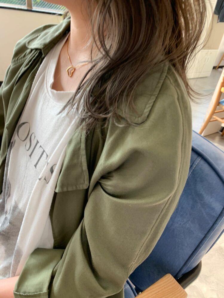 毛先グラデーション silver ash グラデーションカラー8500円