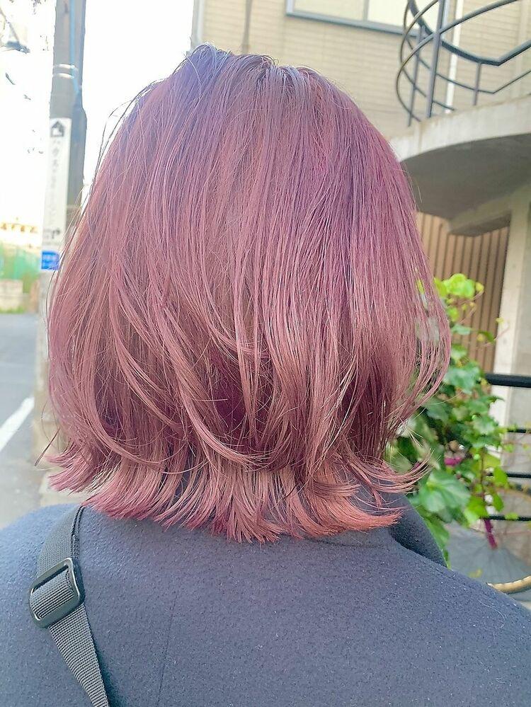 ブリーチカラー 王道人気 pink veal カット+Wカラー10000円