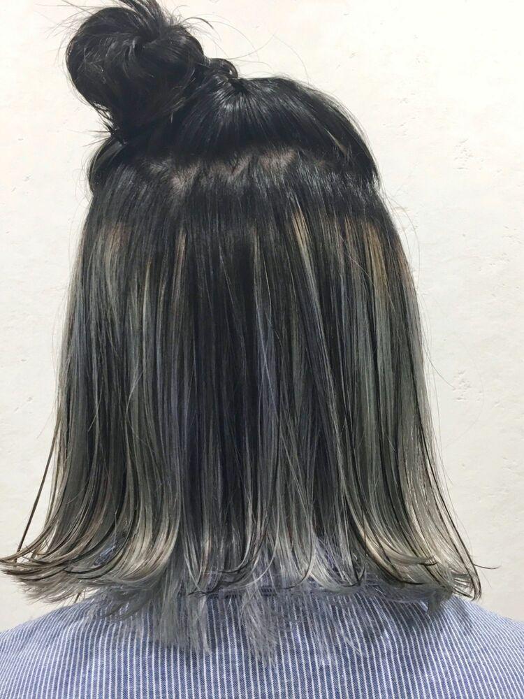 10代20代人気 インナーカラー gray ashcut+インナーカラー 7500円