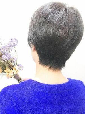 【nike池袋】ミセス☆くせ毛ショート☆オーガニック白髪染め☆