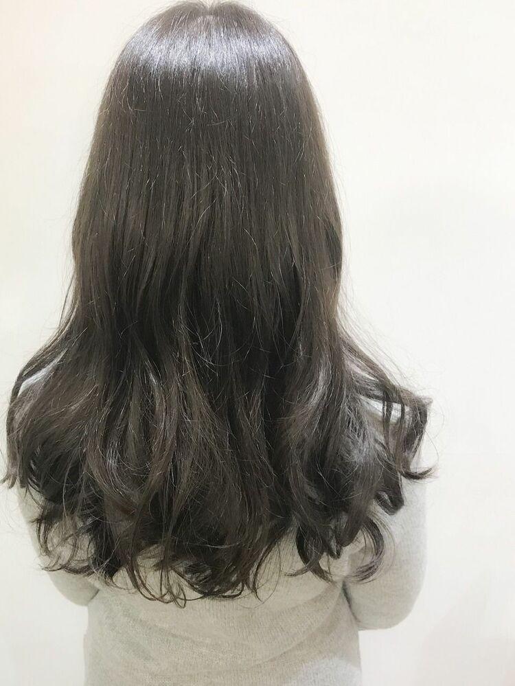 透け感、透明感◎ブルージュロング☆髪質改善酸熱トリートメント