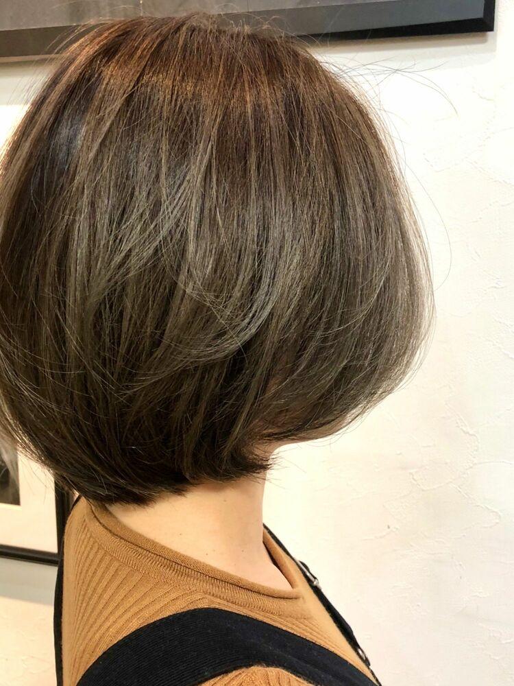 ショートボブ/透明感カラー/秋style