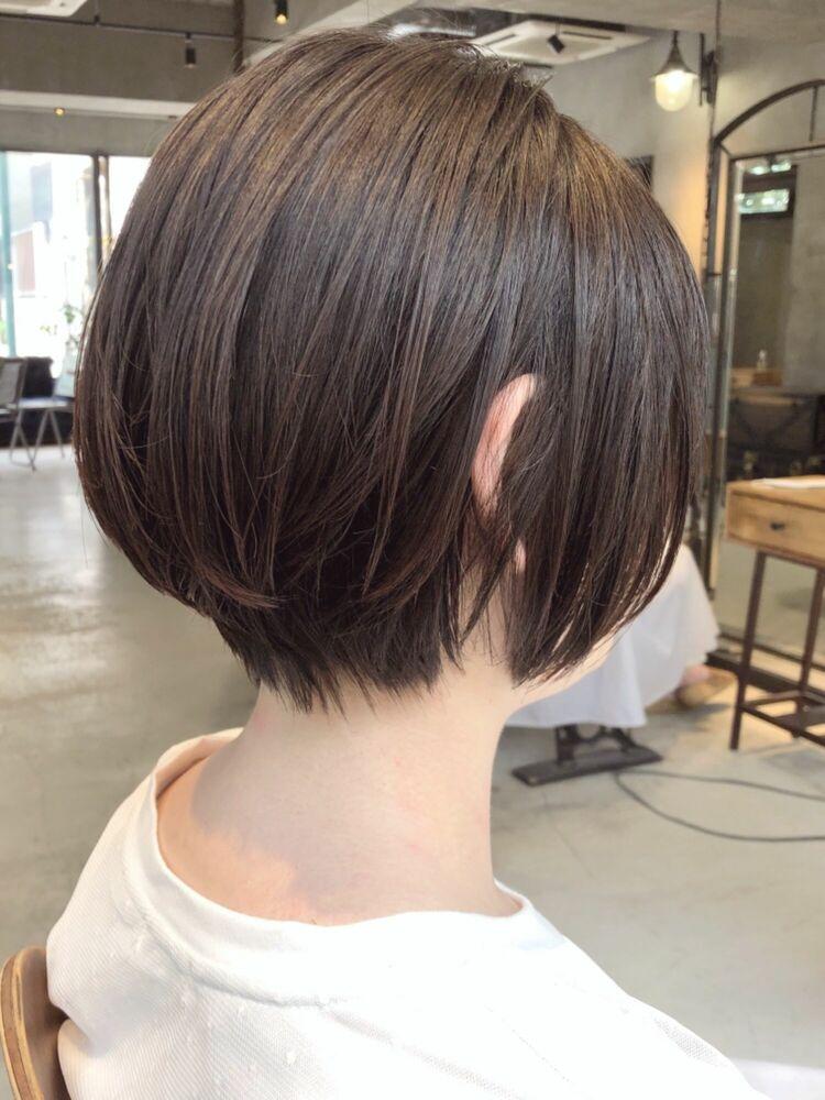20代30代40代 人気のショートボブ アッシュベージュ 大人可愛い ショートヘア
