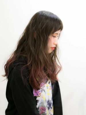 『髪質改善』ピンクグラデーション
