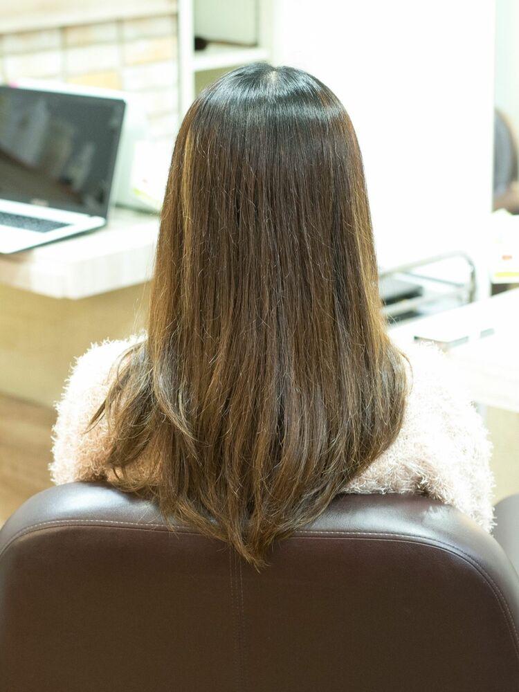 『髪質改善』ブラウンベージュ