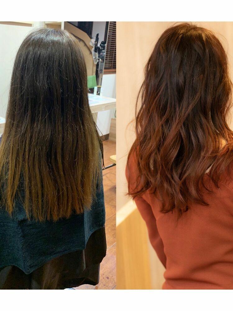 髪質改善グラデーションカラー