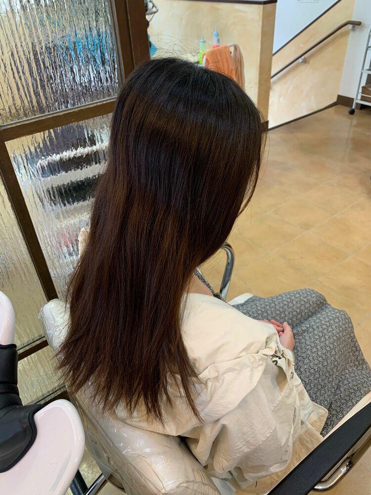 『髪質改善』プラチナブラウン