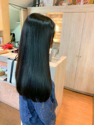『髪質改善』暗髪カラー