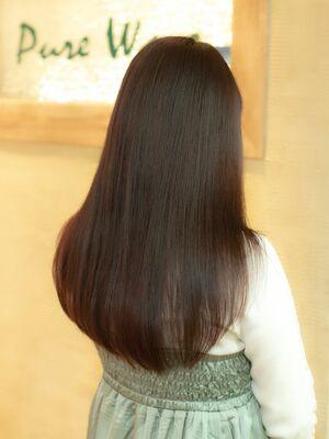『髪質改善』ピンクブラウン