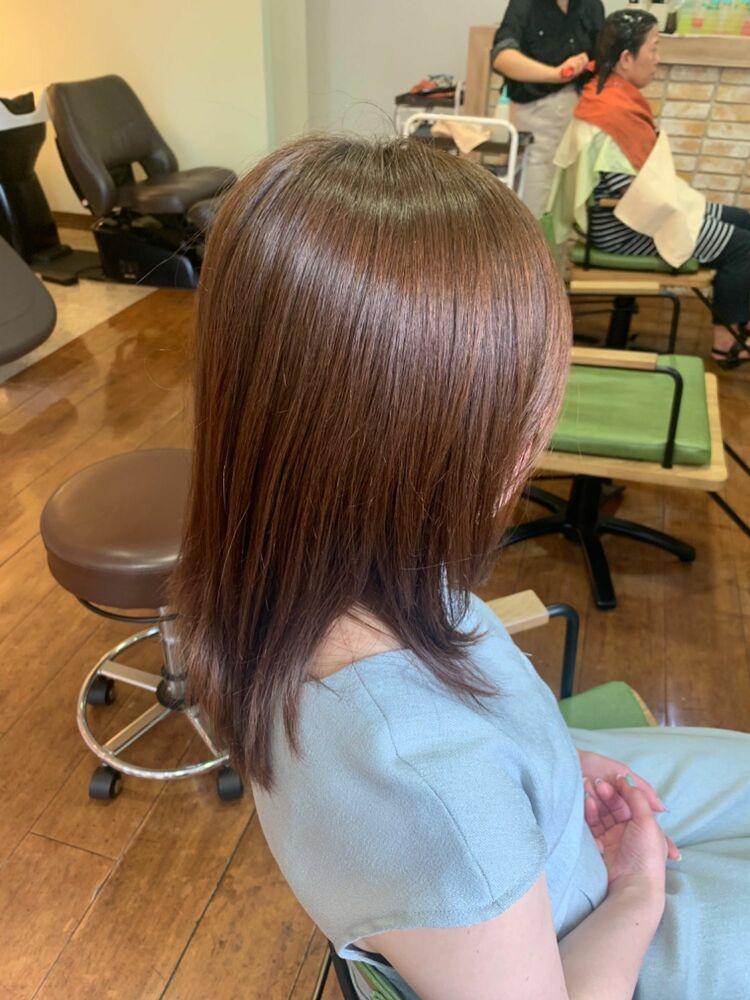 『髪質改善』大人ブラウン