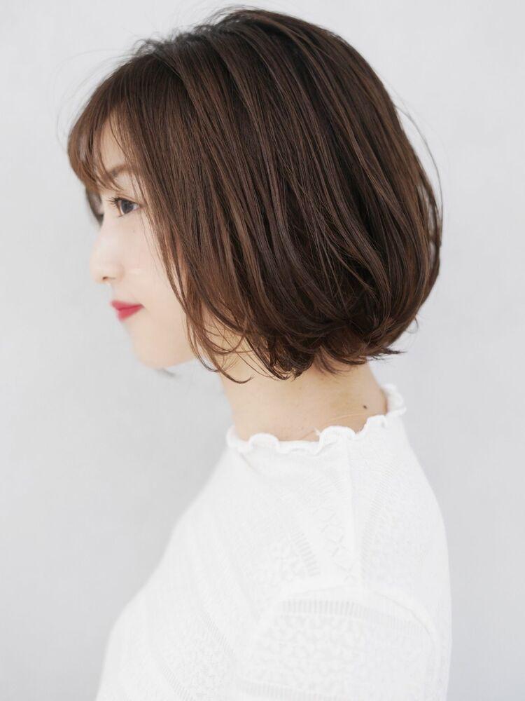 ミチオノザワヘアサロン銀座 堀江タカヒロ 前髪あり大人ふわっとパーマ×透明感ココベージュ