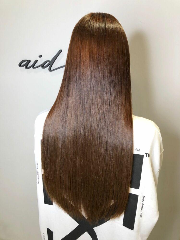 ロング髪も髪質改善トリートメントでサラサラ艶々