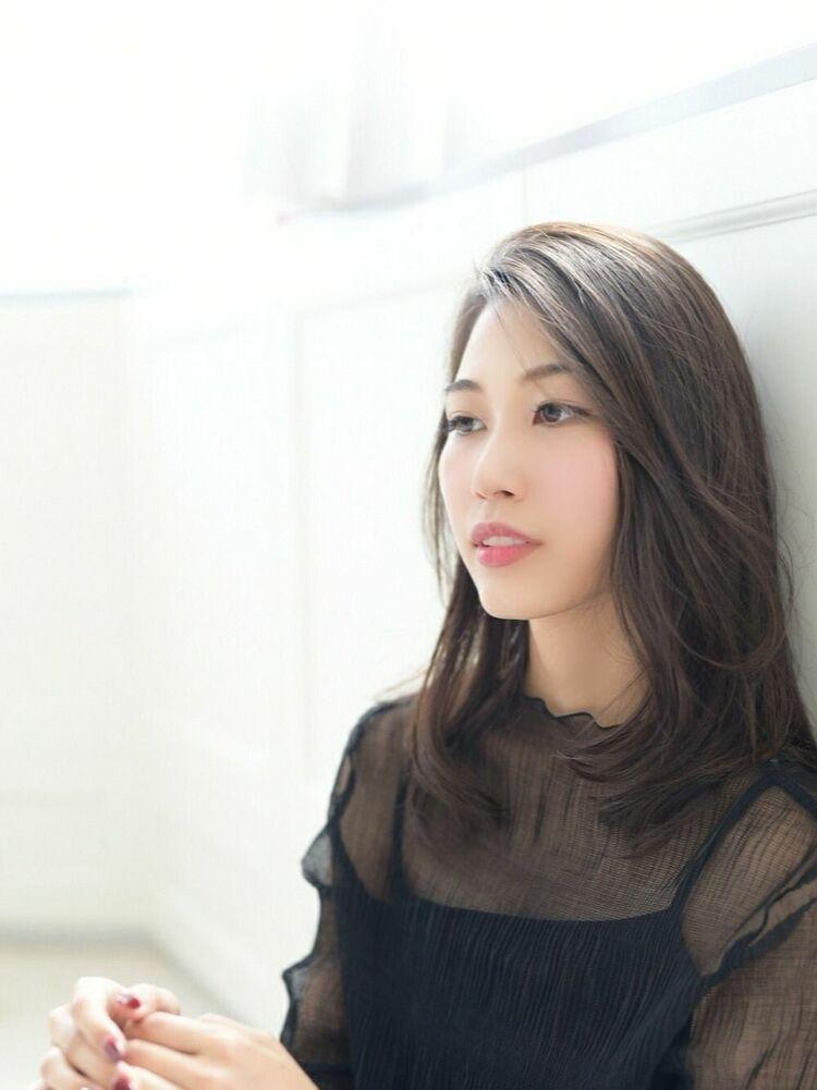 大人ナチュラルミディ☆暗髪アッシュ[新宿/新宿三丁目]