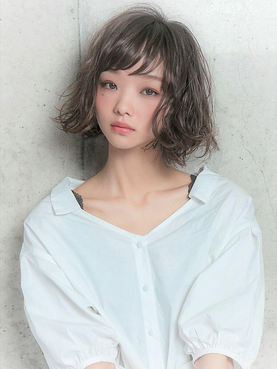 外ハネボブ×透明感×グレージュ  『ネモトヨシキ』