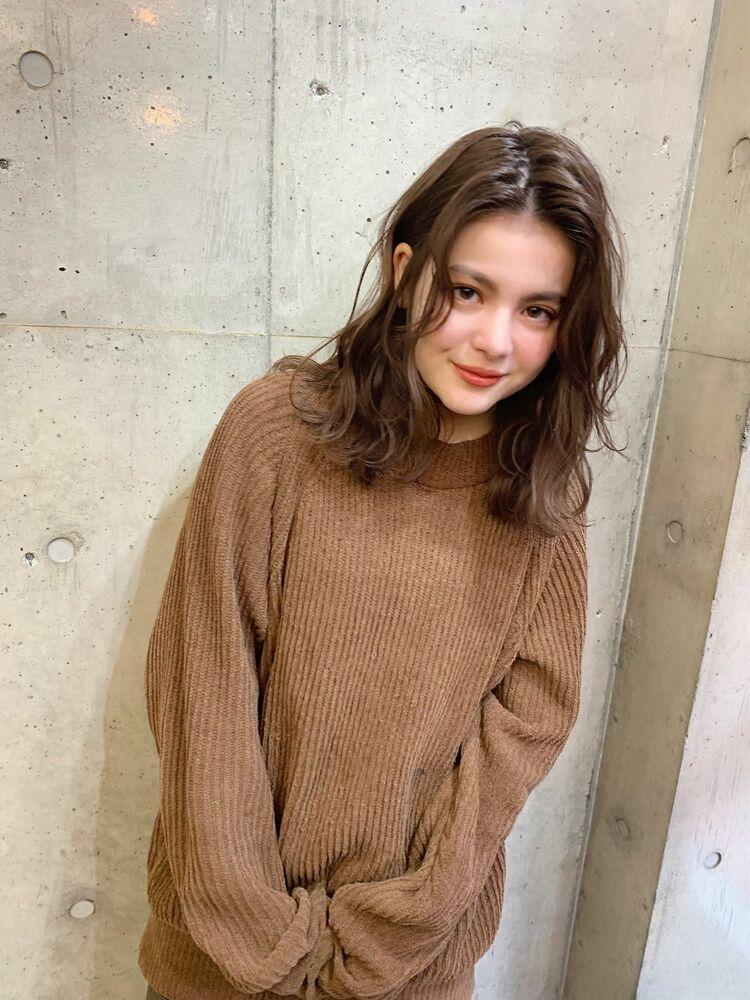 センターパート×セミディ×フェミニン『ネモトヨシキ』表参道stylist