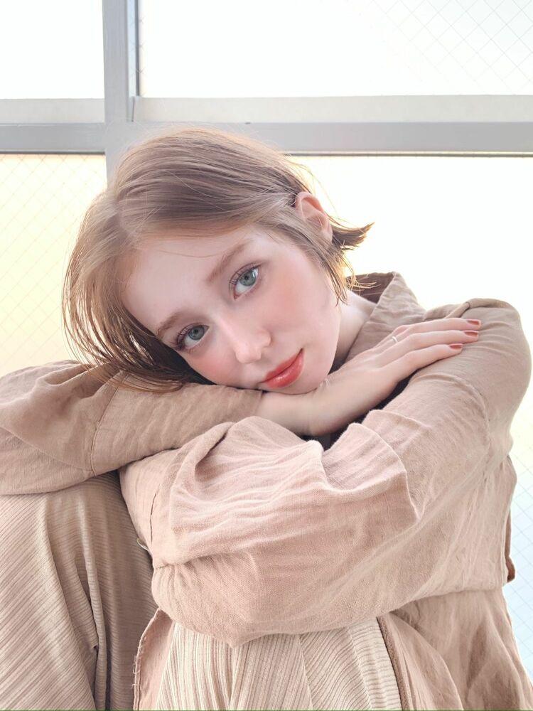ボブ×無造作×ミルクティーベージュ『ネモトヨシキ』表参道stylist