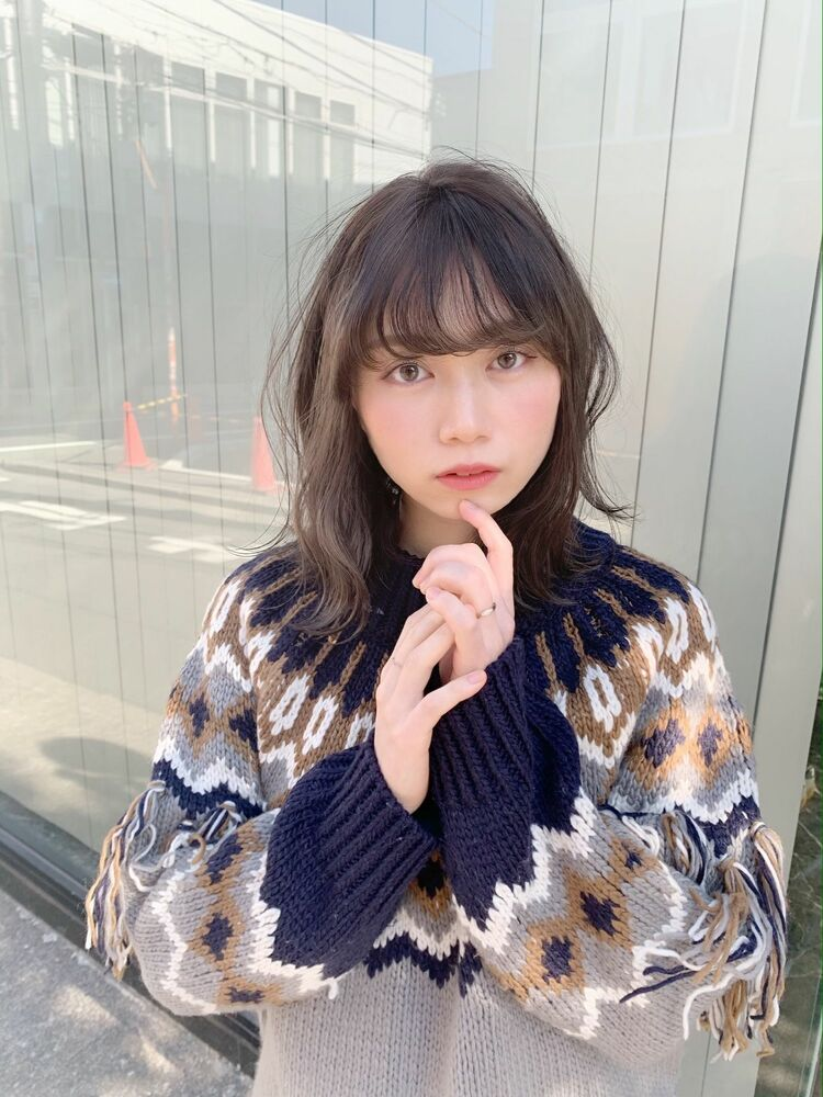 セミディ×シースルーバング×フェミニン『ネモトヨシキ』表参道stylist