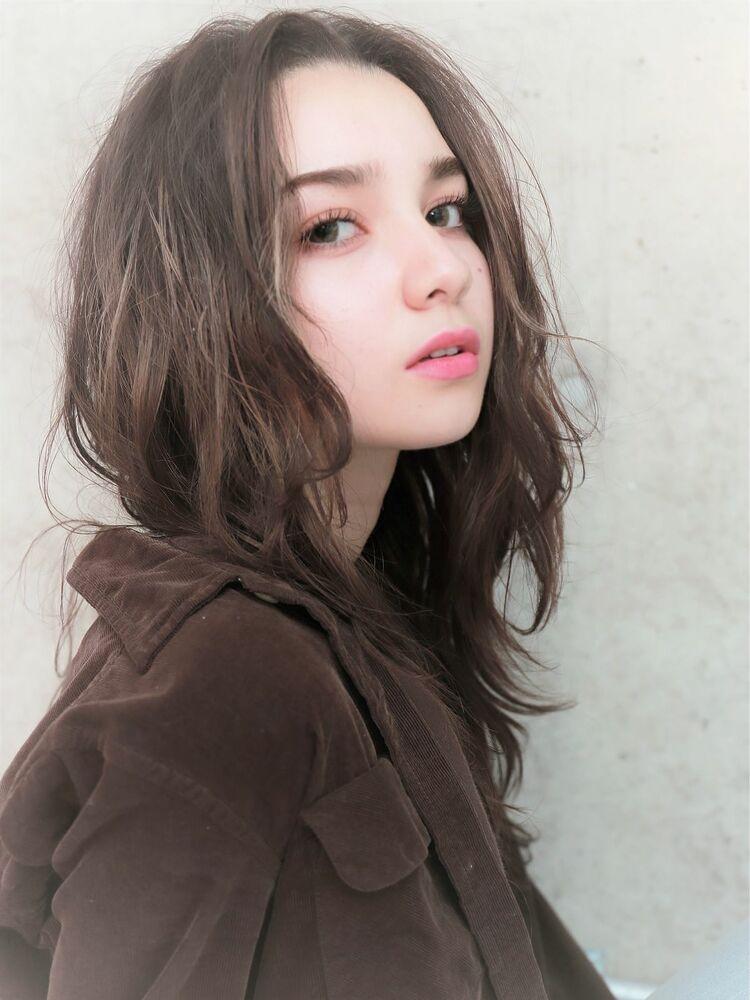 ハイライト×レイヤー×センターパート『ネモトヨシキ』表参道stylist