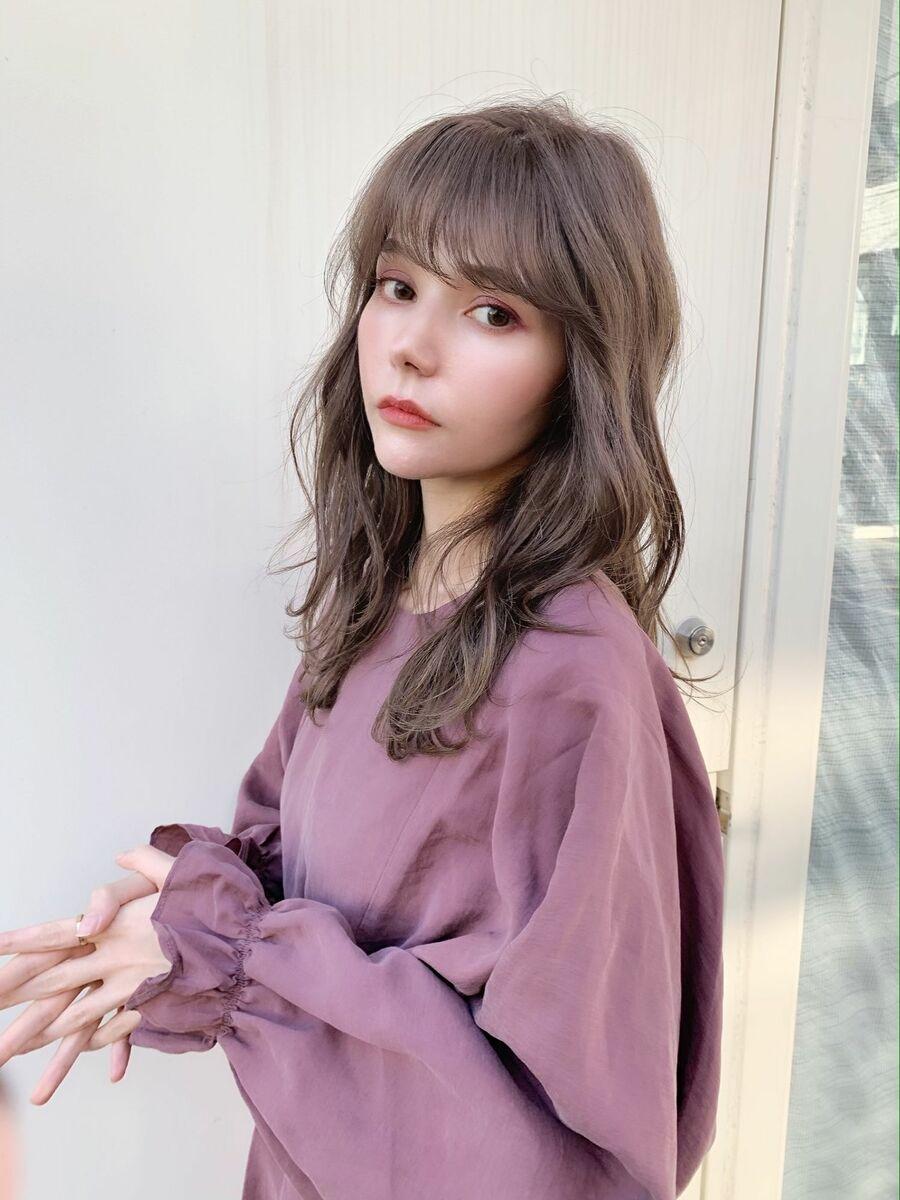 シースルーバング×フェミニン×シアーベージュ『ネモトヨシキ 』表参道stylist