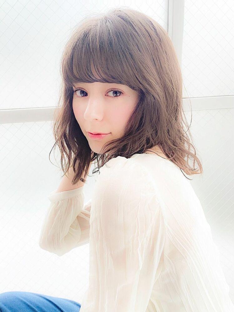 シースルーバング×フェミニン×シアーベージュ『ネモトヨシキ』表参道stylist
