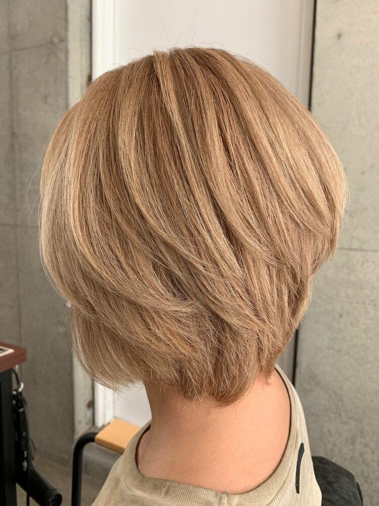 リアルなお客様 白髪染めでここまで綺麗なブランドヘアへ仕上げました。