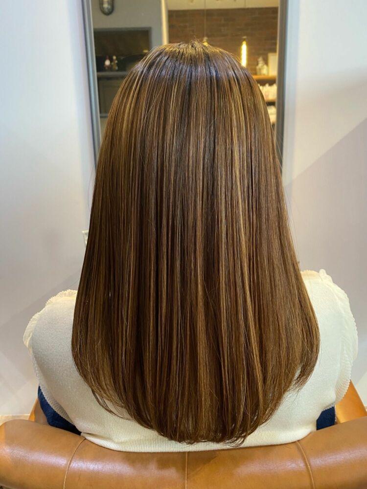 ハイライトカラー/髪質改善トリートメント/ケアプロ