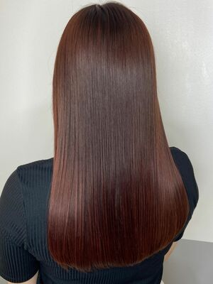 艶髪ロングx red brown