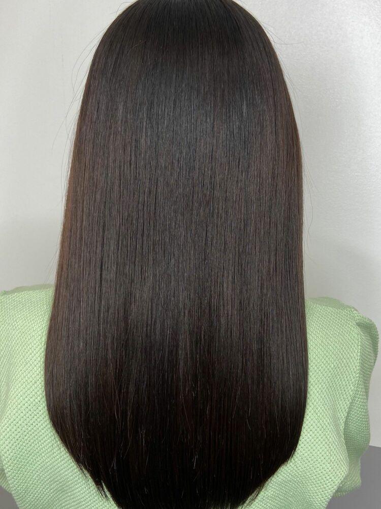 艶髪ロングx dark brown