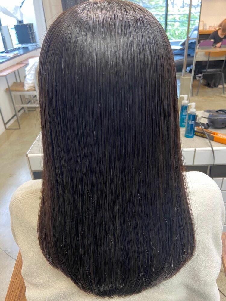 美髪ロングx dark gray