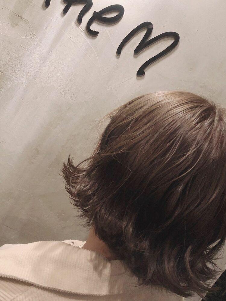 外ハネボブ(ハイライト)x milkty beige