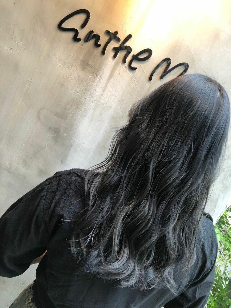 ゆるふわロングx blue silver