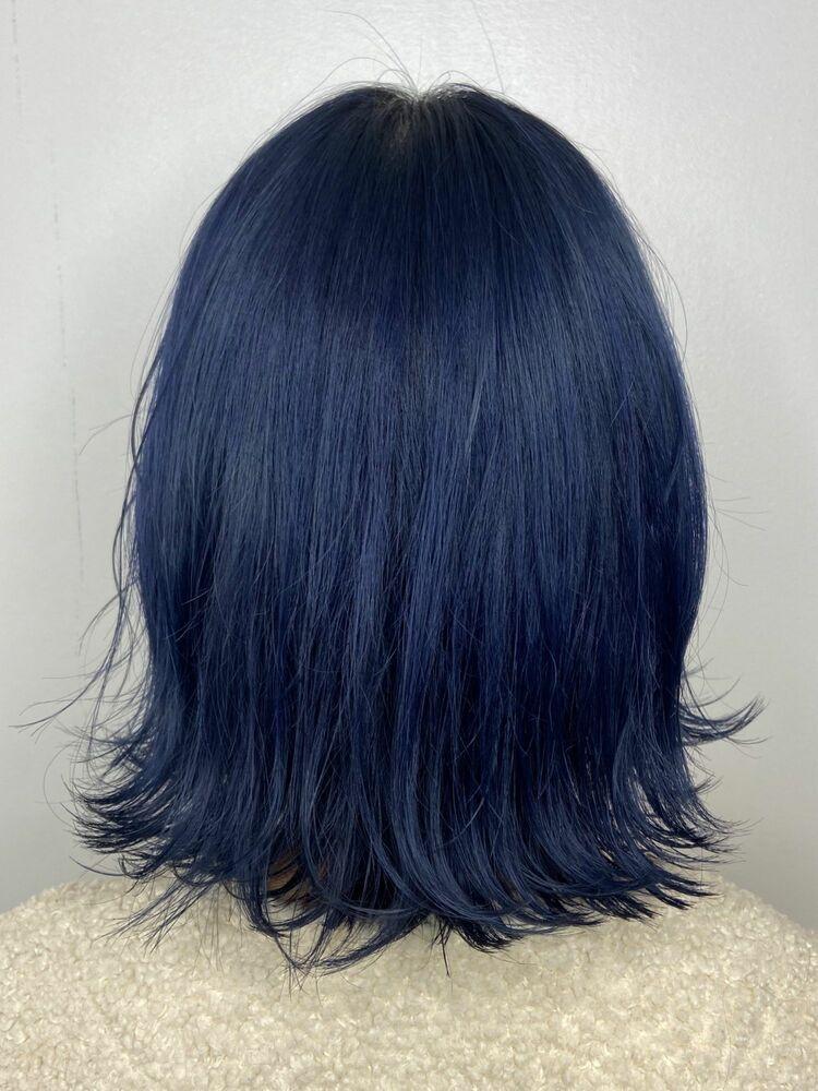 外ハネボブx aqua blue