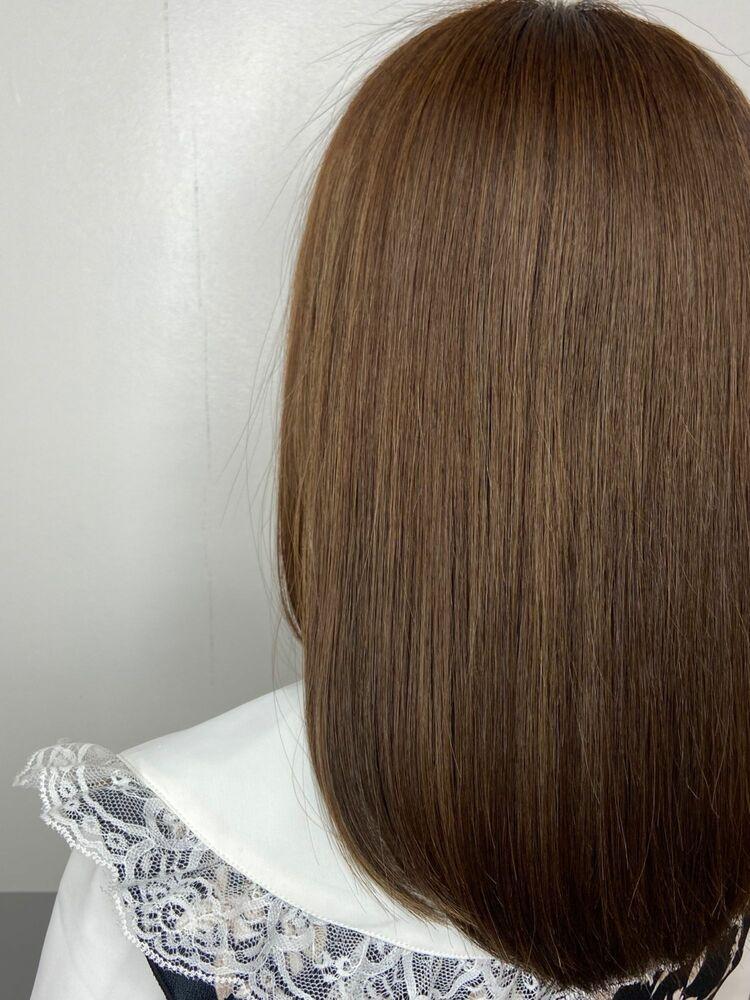 まとまりミディアムx brown beige