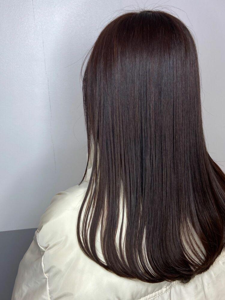 束感ロングx chocolate brown