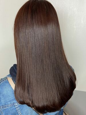 ワンカールまとまり美髪スタイルx chocolate brown
